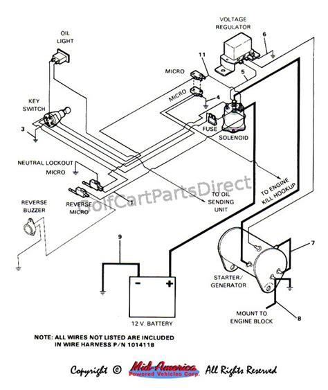 36 Volt Ezgo Wiring Diagram1990 by 1984 1991 Club Car Ds Gas Club Car Parts Accessories