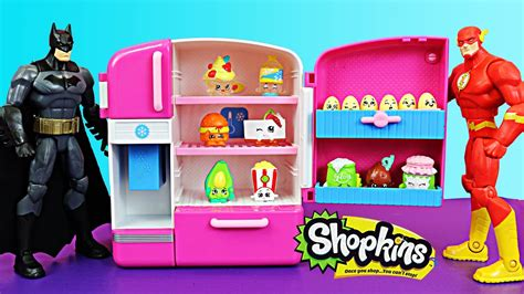 Shopkins Fridge With Eggs Where Batman And The Flash Visit