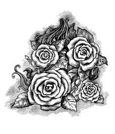 Rose Lace Tat Maybe Cover For Cross