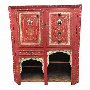 Vintage Hand Painted Moroccan Armoire Design Plus Gallery