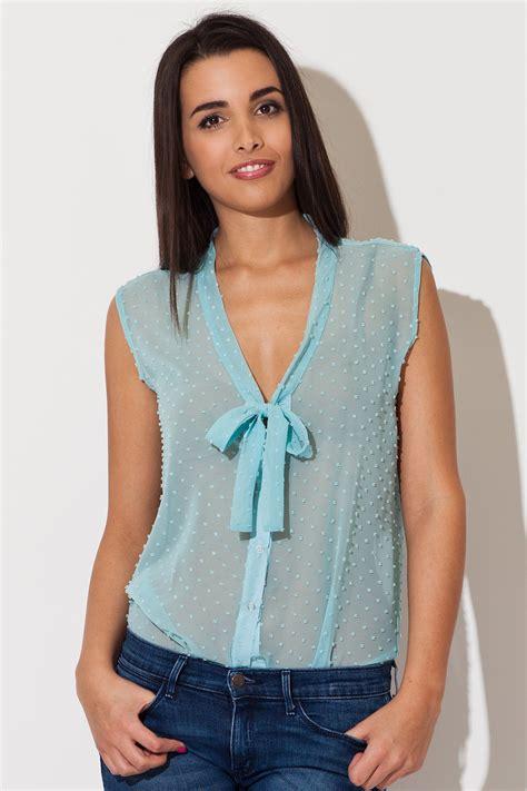 s sheer blouses sea blue dreamy speckles summer sheer blouse