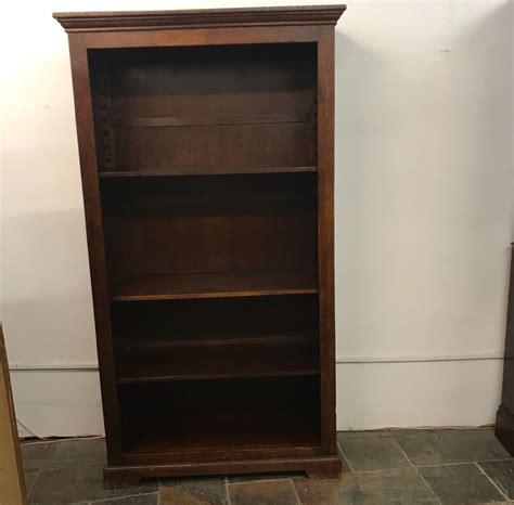 Antique Oak Book Shelf, Shop Display Cabinet Interior
