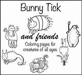 Coloring Adult Bunny Friends Tick Books Spreesy sketch template