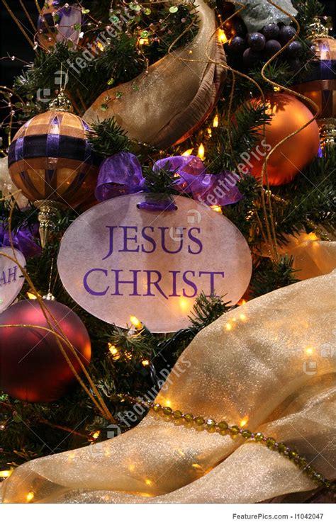 picture  jesus christ christmas ornament