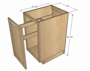 """Ana White 18"""" Kitchen Base Cabinet Trash Pull Out or"""
