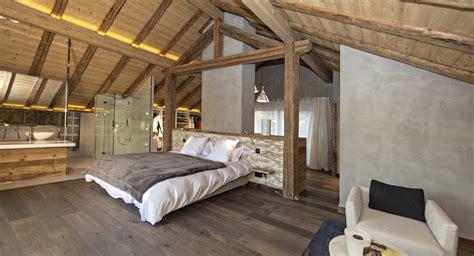 chambre chalet de luxe chalet yéti luxe et design contemporain au centre de