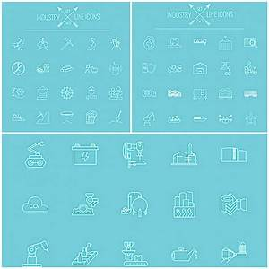 Industry icon set vector | Free download