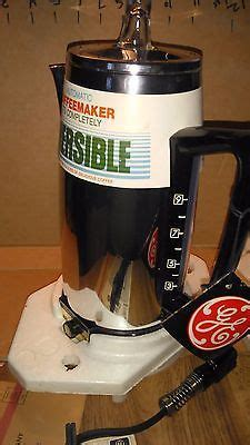 The water temperature is a bit lower at the start of brewing then it rises up and stays at about 200 °f. MIB GE GENERAL ELECTRIC 9 CUP IMMERSIBLE AUTOMATIC PERCOLATOR COFFEE POT P15 | Percolator coffee ...