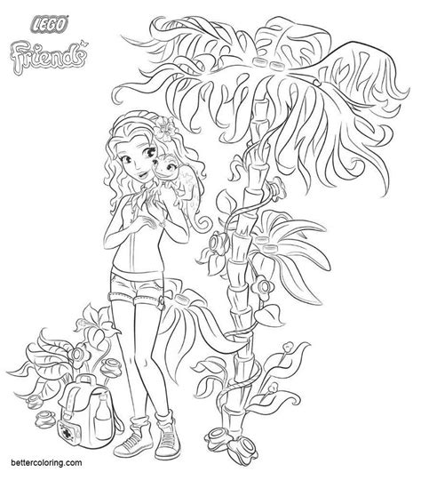 lego friends coloring pages girl emma  printable