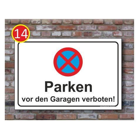parken vor garage parkverbot schild parken vor den garagen absolut