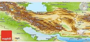 Physical Panoramic Map of Iran