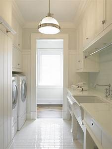 galley laundry room transitional laundry room brooks With kitchen colors with white cabinets with forth rail bridge wall art