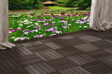 install wood  composite deck tiles learning