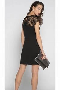 h robe droite dentelle cachecache noir dc 6 lomilomifr With robe noire cache cache