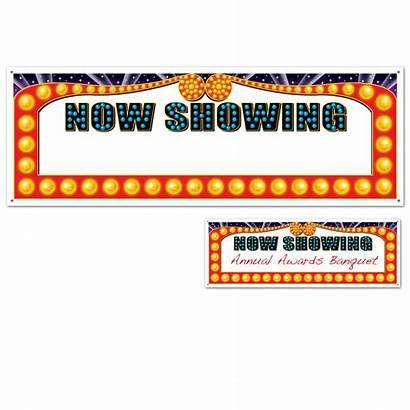 Showing Sign Banner Cinemas