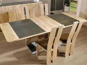 salle a manger merisier 8 table 224 manger en bois de With meuble de salle a manger avec table À manger rectangulaire bois
