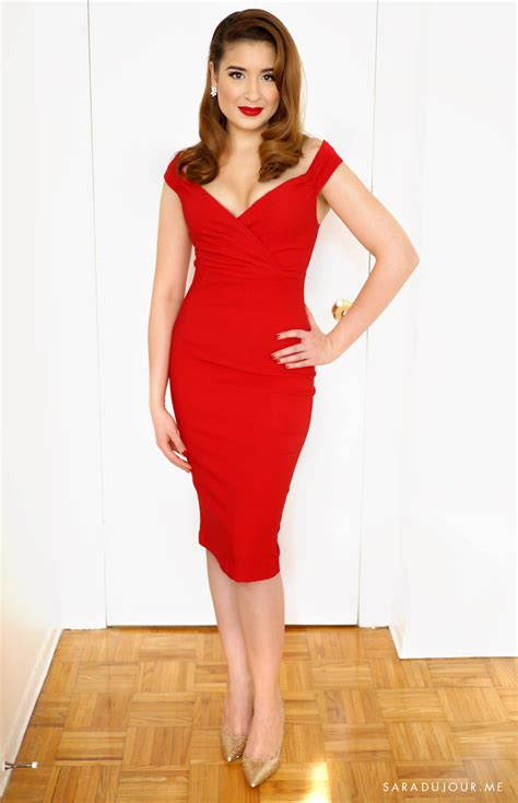 Retro Glamour Little Red Dress Outfit u2022 Sara du Jour