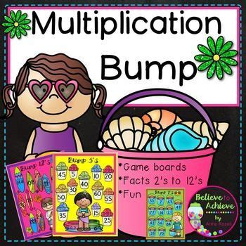 Multiplication Bump Games 2's To 12's (summer Themed)  Student, The O'jays And Summer