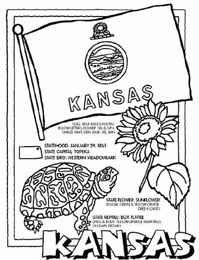 Kansas Coloring Crayola Pages State Flag Seal