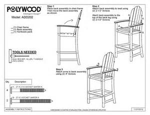 plans for bar height adirondack chair