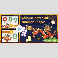 * New * Chinese New Year Number Shape Powerpoint  Chinese New Year Maths