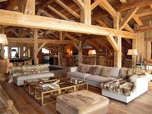Gite megeve chalet javen dans mont blanc grand massif for Interieur chalet bois montagne