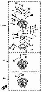 1987 yamaha carburetor parts for 90 hp 90etlh outboard motor With diagram of 1987 90etlh yamaha outboard control engine diagram and