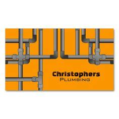 plumbing plumber business cards images