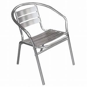 Bistrostuhl stapelbar stapelstuhl aluminium silber for Französischer balkon mit stapelstuhl aluminium garten