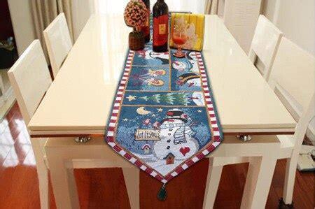 fashion christmas table runner cotton table cloth snowman