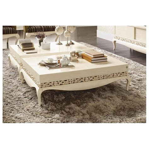 de la table luxe table basse de luxe carr 233 e ou rectangulaire blanche