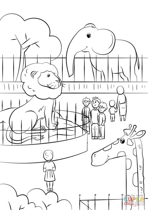 Coloring Zoo by Zoo Animals Coloring Page Free Printable Coloring Pages