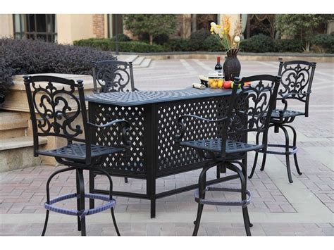lowes kitchen floors darlee outdoor living santa barbara cast aluminum bar set 3877
