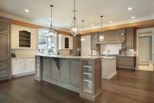 kitchen with 2 islands 53 spacious quot construction quot custom luxury kitchen designs home stratosphere