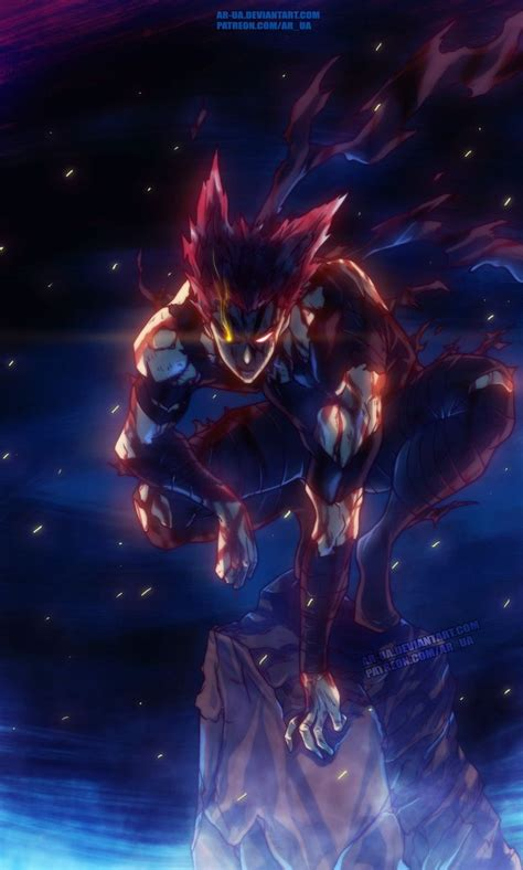 bloodied garou opm personagens de anime desenho de