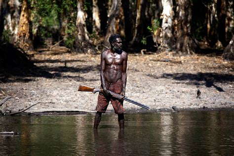 aboriginal crocodile hunters  arnhem land  australia