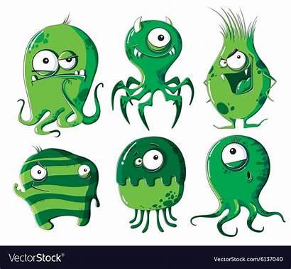 Bacteria Cartoon Microbes Vector Royalty