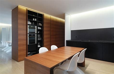 Interior Cupboards by Minimalist Interior Renovation In Tuscany By Victor Vasilev