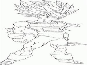 Goku Ssj2 Coloring Pages - AZ Coloring Pages