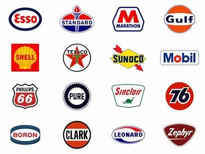 Gas Station Company Logos Oil Petrol Mobil