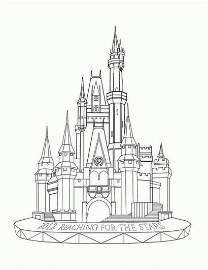 Coloring Disneyland Castle Popular