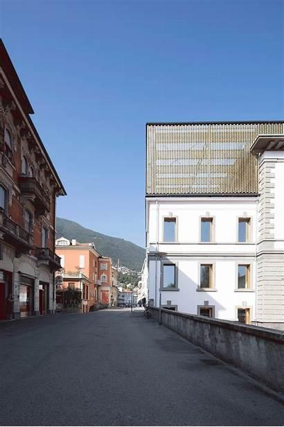 Locarno Archdaily Azpml Dfn Switzerland Palazzo Cinema