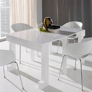 Table console extensible laquée blanc mobilier