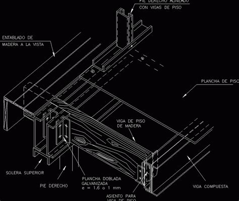 stell steel frame construction system dwg detail  autocad designs cad