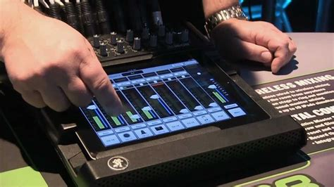 mackie dl ipad interface digital mixer review youtube
