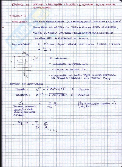 dispense scienza delle costruzioni esercizi svolti e spiegati 2 esercitazione di scienza