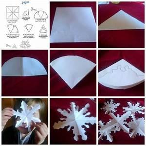 Flocon De Neige En Papier Facile Maternelle : flocons de neige r alis s en papier dessiner un flocon de neige en maternelle ~ Melissatoandfro.com Idées de Décoration