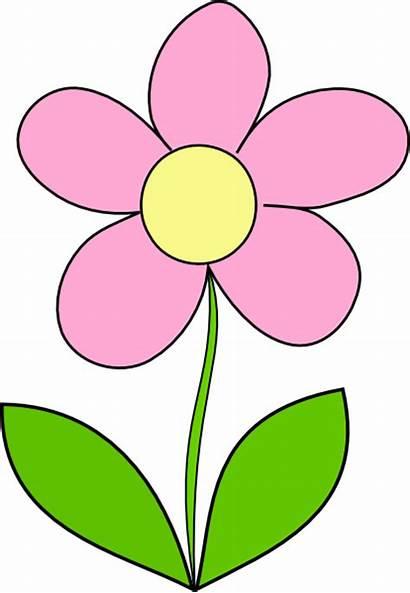 Clipart Flower Flowers Cliparts Clip Cartoon Border