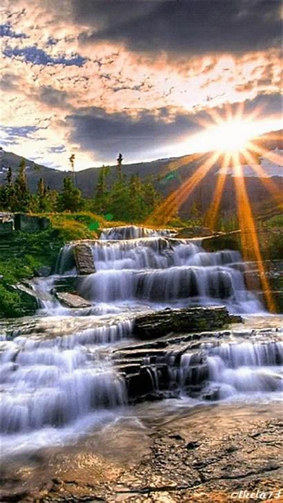 Waterfall Clip Waterfalls Element Flowing Water Landscape