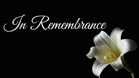 In Remembrance: Locals who passed on in October ...